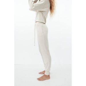 Zara soft touch joggers trouser sweatpants beige M